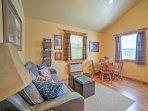 Find plenty of natural sunlight pouring in from the cabin's windows.