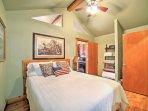 Turn the ceiling fan on to enjoy a gentle breeze as you sleep.