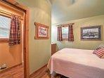 Head into the bedroom's en-suite bathroom to get ready.