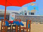 La Sirena Gordita Tapas Bar, right in front on the beach