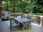 Picnic Table on Rear Deck.