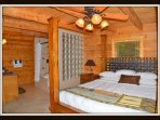 Master suite; 1st floor. King bed, oversized jacuzzi with shower and full body jets.