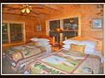 2nd bedroom; 1st floor.  2 queen beds and full bathroom.