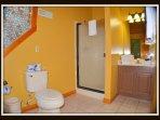 2nd bedroom; 1st floor. Full bathroom with walk in shower.