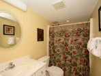 Guest Bathroom features shower/tub combo