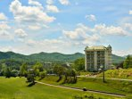 Play a round of golf on the Gatlinburg Golf Course, just across the street!