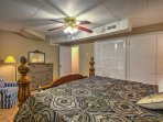 A ceiling fan provides added comfort on hot North Carolina days!