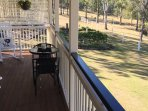 Another dining spot on cottage verandah