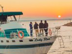 Sunrise Makes Mornings Aboard The Lady Rue Beautiful.   Get In Touch With Us For A Quote Today
