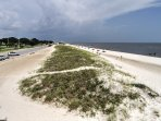 The condo is a quick walk down to the white sandy beaches along the Gulf of Mexico.