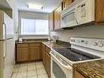 The fully equipped kitchen has everything you need to make delicious meals in your home-away-from-home.
