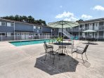 Enjoy peaceful afternoons swimming in the community pool.