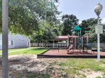 Any children in your travel group will love playing at the community playground.