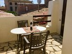 Centre of Olonzac, market views, 2 bedrooms & private sunny rooftop terrace
