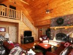 Relax in the living room at Beech View Lodge. #fireplace