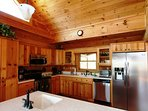 Cook up a feast in the large kitchen at at Beech View Lodge.