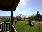 Enjoy the spacious mountain views from the deck. #view
