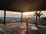 Enjoy our yoga pavilion with spectacular sunrise views.
