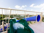 Slide into the fun at the Hideaway Club. Access to our guests is complimentary!
