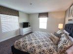 Upper Floor Master Suite with 43' Smart TV