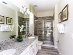 Ground Floor enSuite Master Bathroom with 2 sinks