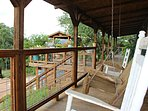 Enjoy the Rocking Chairs & Swing While Taking in the View