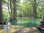 Swimming Area at Blue Hole Park - Consistently voted one of the top 5 swimming holes in Texas!