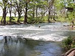 View of Guadalupe River from Waterwheel Property