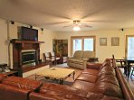 Spacious Family Room with HDTV