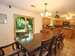 Large Dining Table & Kitchen