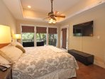 Large Master Suite with King Bed and HDTV