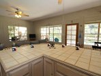 Open Kitchen. Living, and Dining Areas