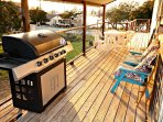 Gas Grill on Side Deck - Propane provided for guests