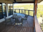 Outdoor Dining - Relaxing outdoor dining with a great view and available propane BBQ grill