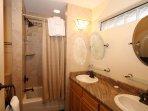 Second Bathroom - Bath/ Shower Combo & Dual Sinks