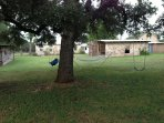 Hammock & Swings Under the Large Oak Tree