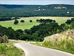 Wimberley Valley - Blanco River Valley view, a mile down the road. Stroll or ride among the beauty.