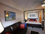 Master bedroom - King bed & queen sleep sofa