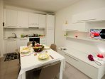 Kitchen-diner with Flat-screen TV