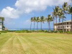 Poipu Sands has a Large Grassy Area