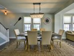 A 6-person dining room is great for more formal occasions