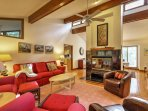 Inside, the home boasts 2,000 square feet of tastefully-appointed living space.