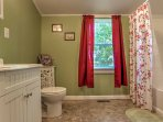 This home features a pristine full bathroom.