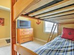 All 3 bedrooms feature flat-screen satellite TVs.