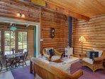 Cozy Living Room w/Fireplace