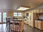 The kitchen is fully equipped with everything you'll need to prepare delicious meals.