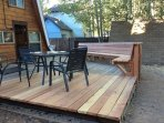 A back deck big enough for dining