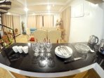 Inside the 2nd Floor: Dining Area, Kitchen, Bathroom