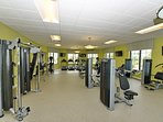 Fitness Center use is complimentary and available at the Hideaway Club