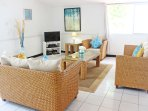 The comfortable and bright living area
